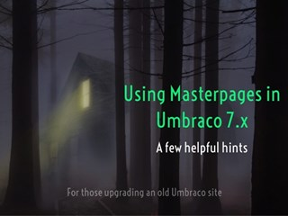 How to keep using MasterPages in Umbraco.
